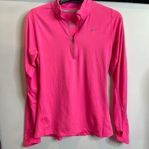 Nike running half zip S hot Pink neon reflectuve jumper pullover element